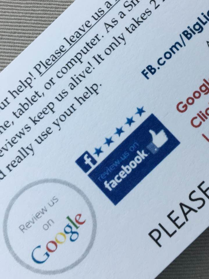 Tip: Get More 5 Star Reviews On Google or Facebook
